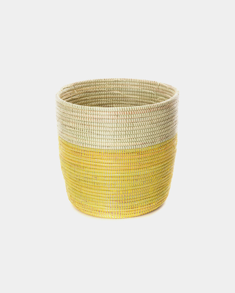 Tall Yellow Dipped Basket - Hesby