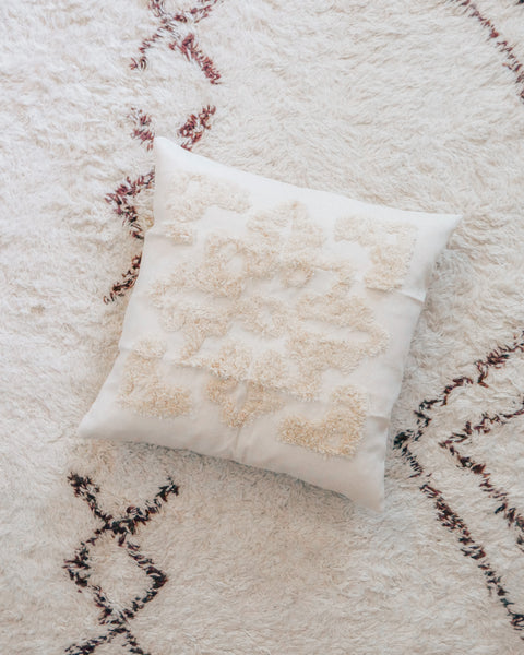 Beige Tufted Pillow