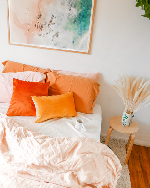 Rust Velvet Pillow - Hesby