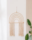 Rattan Fringe Rainbow Wall Decor