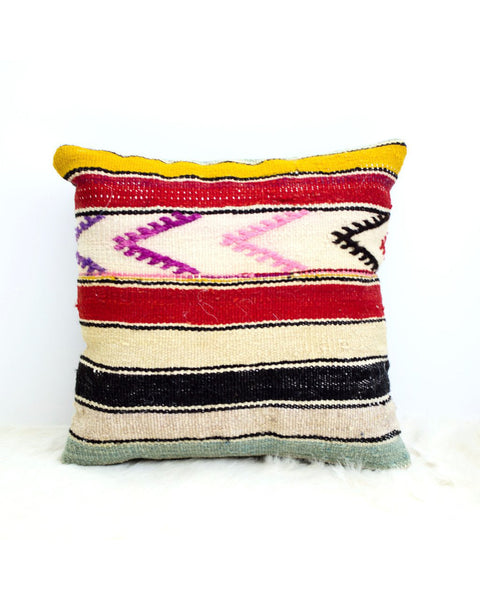Boho Striped Arrows Kilim Pillow