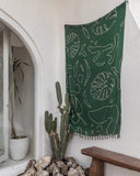 Green Monstera Tapestry
