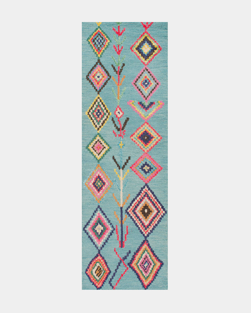 Blue Gypsy Wool Rug - Hesby