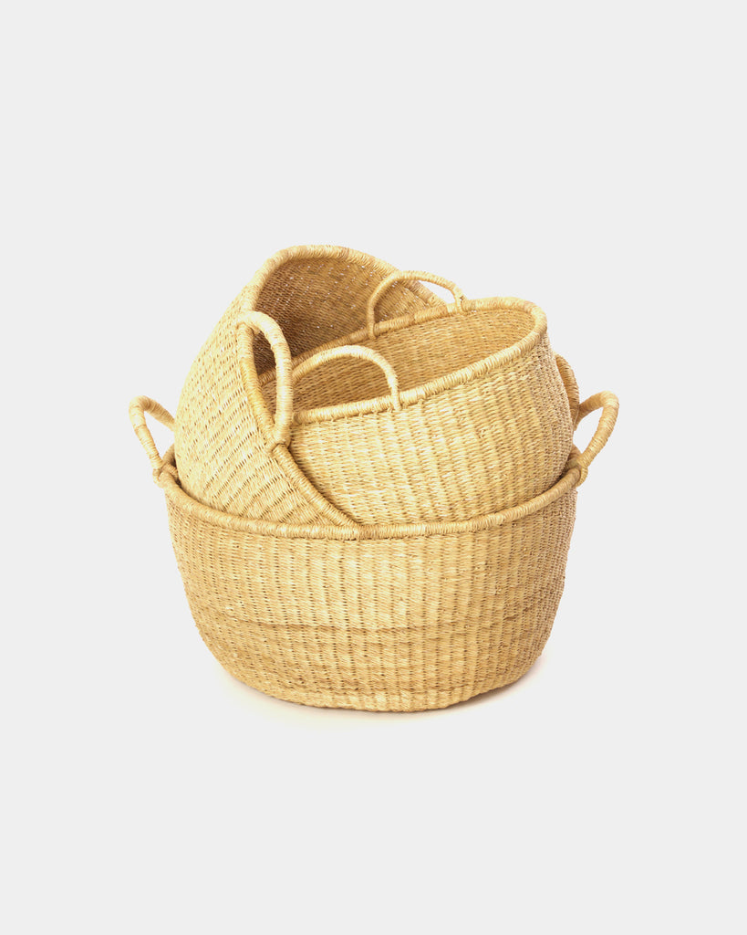 Clara Natural Baskets Set - Hesby