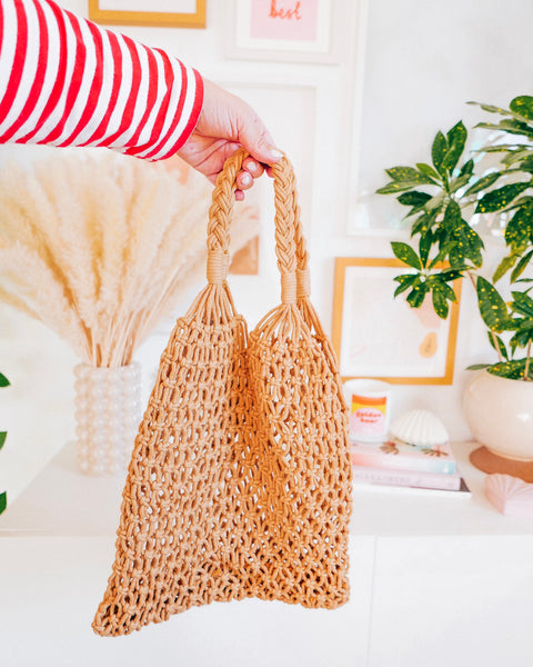 Open Weave Straw Bag - Hesby