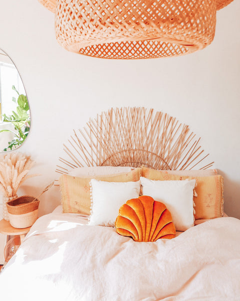 Mustard Sea Shell Pillow - Hesby