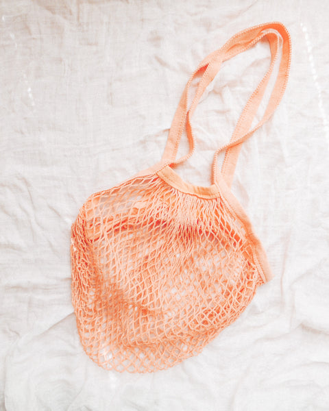 Peach French Market Bag