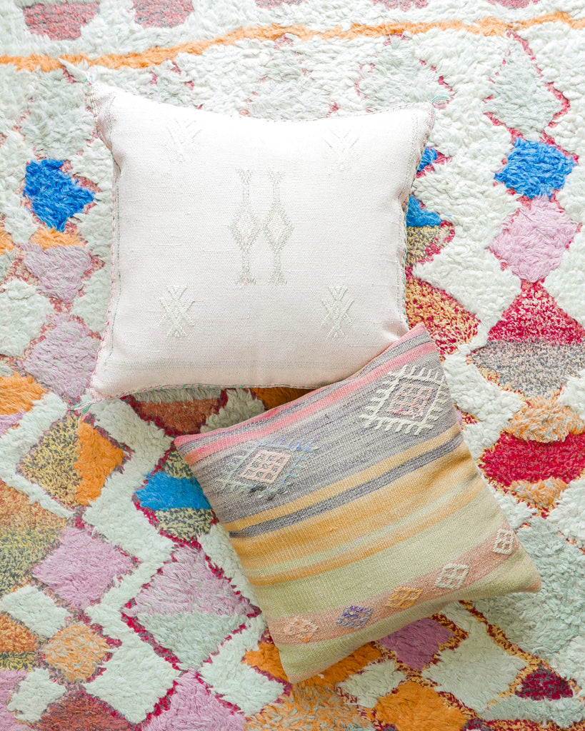 Faded Blush Cactus Silk Pillow