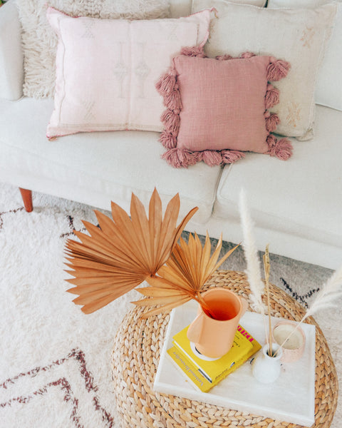 Sienna Blush Tassel Fringe Pillow