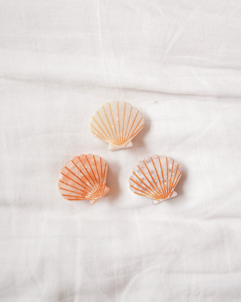 Sea Shell Hair Clips