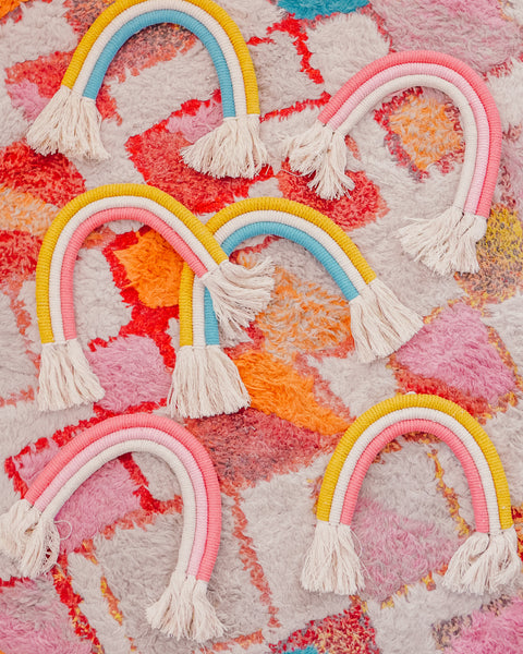 Cotton Candy Rainbow Wall Hanging