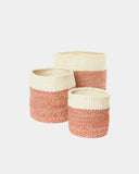 Red Dipped Sisal Basket - Hesby