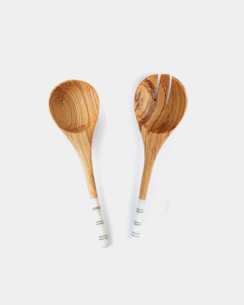 Striped Serving Utensils - Hesby