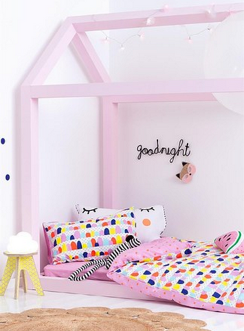 Kids Room Decor, Kids Bedding, Childrens Decor, Childrens House Bed, Bedframe, Pink decor