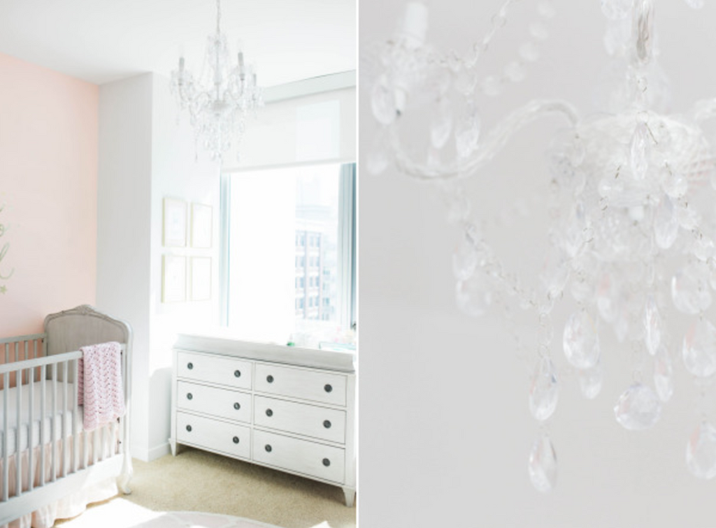 BABY Girl Nursery in Gold and Blush Pink