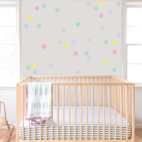 Confetti Wall Dots Pastel Wall Decals DIY Home Decor Kids Wall Decals Nursery Wall Decals