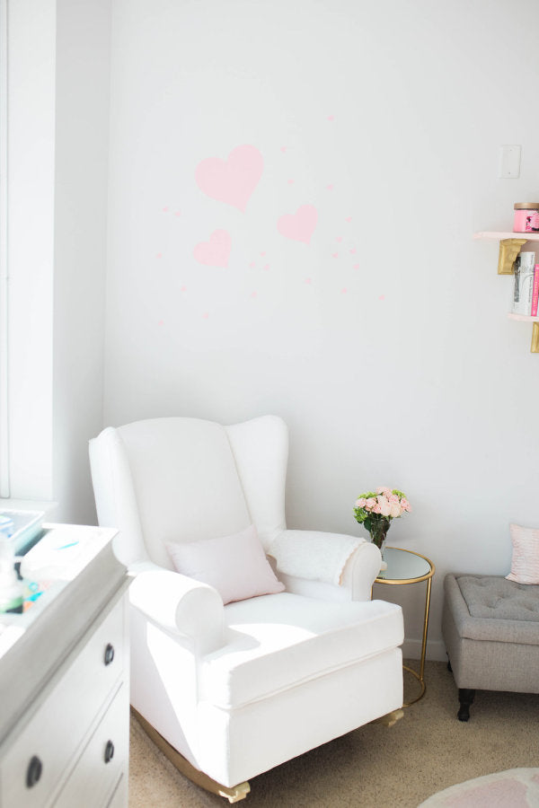 BABY Girl Gold and Blush Pink Nursery