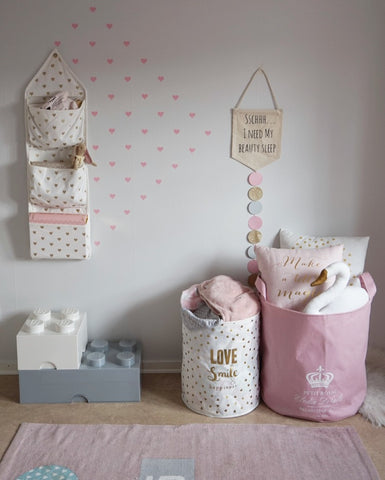 Plush Pink and White Room - Rocky Mountain Decals