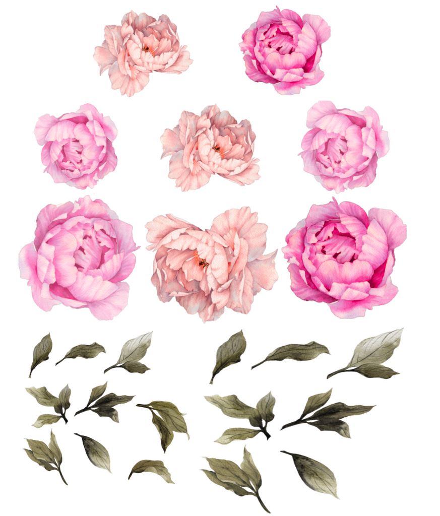 Hot Pink Peony Flower Wall Stickers Rocky Mountain Decals