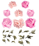 peony wall stickers for baby girl nursery