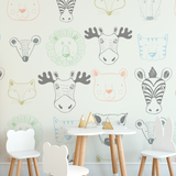Animal Removable Wallpaper