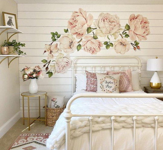 Autumn Rose Wall Stickers