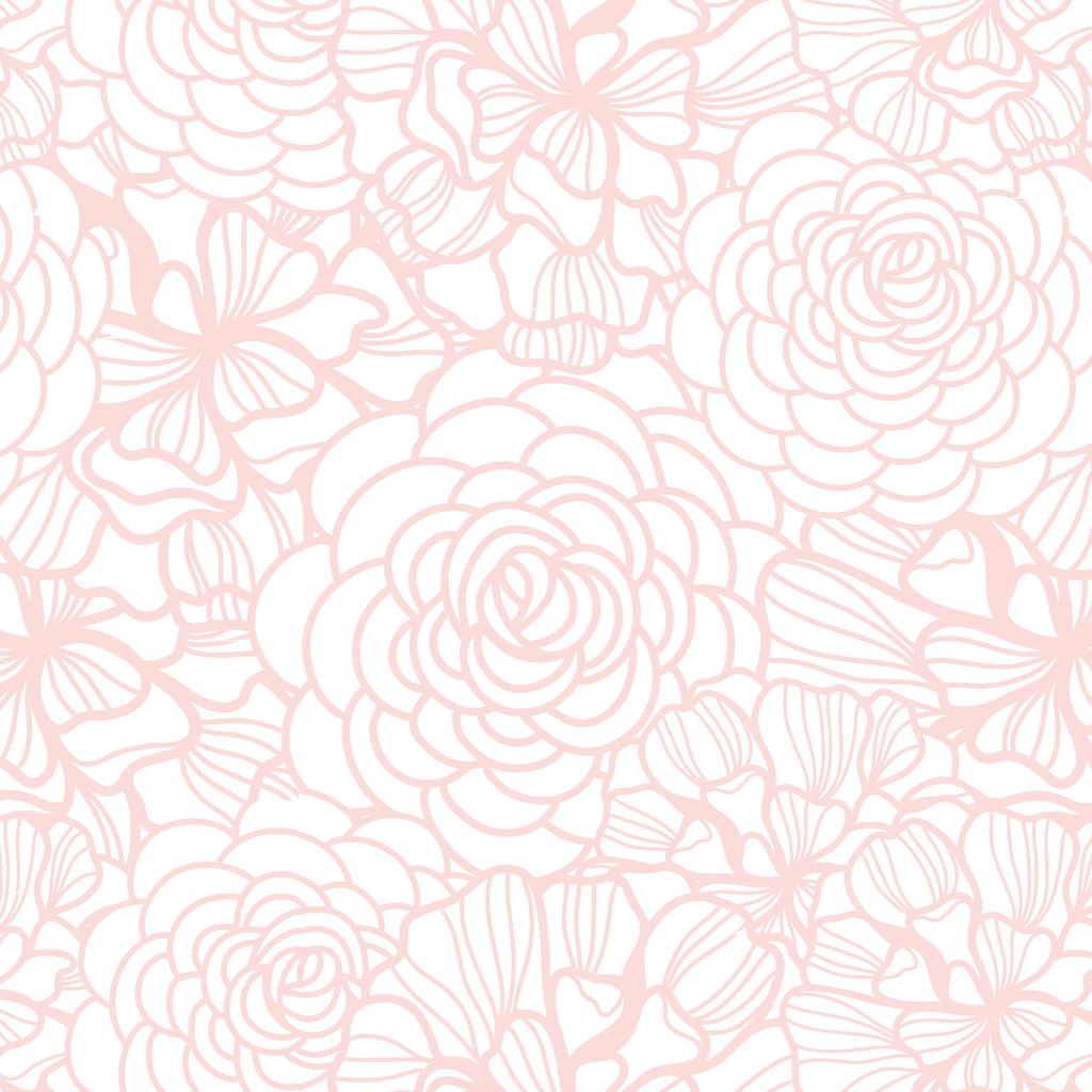 Blush Pink Flower Wallpaper Self Adhesive Rocky Mountain Decals