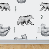Bear Wallpaper (Self-Adhesive)