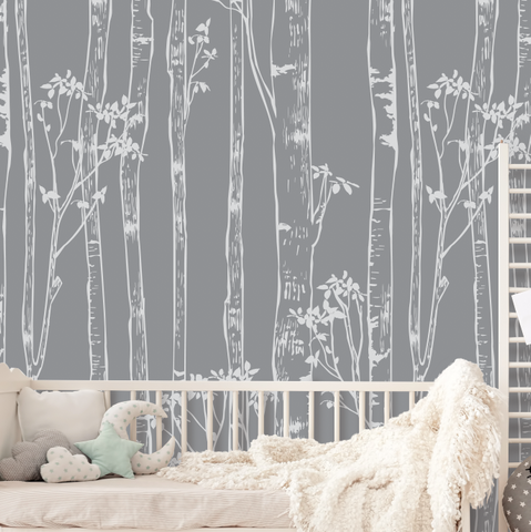 Birch Tree Peel and Stick Wallpaper