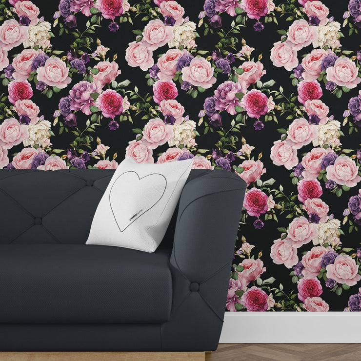 Vintage Floral Wallpaper (Peel & Stick)