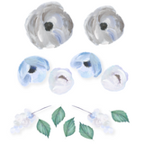 Blue Blooms Wall Stickers