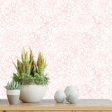 Flower wallpaper, flower wall paper, wall decoration, wallpaper nursery, floral wallpaper, flower removable wallpaper, pink wallpaper, blush