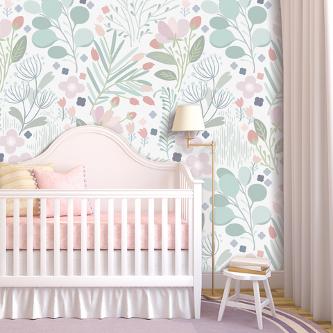 Dreaming In Pastels Wallpaper (Peel & Stick)