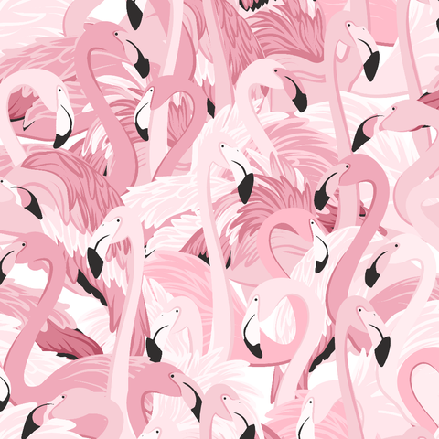 Flamingo Wallpaper (Peel & Stick)