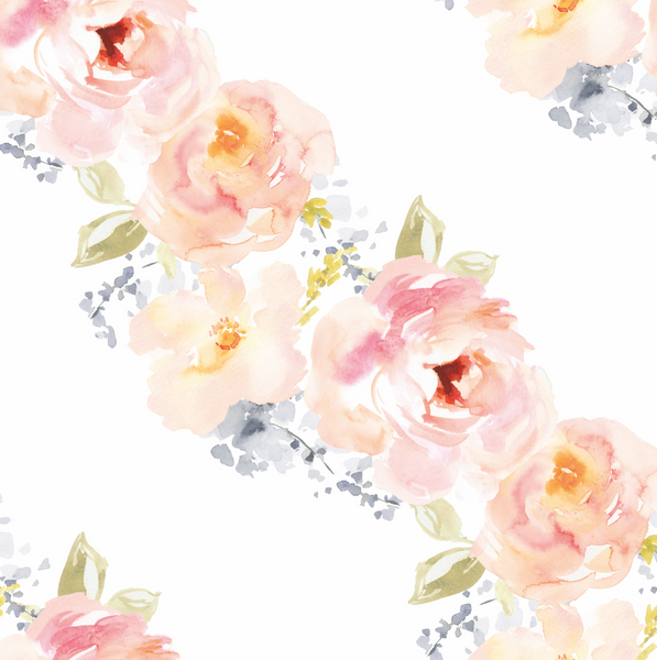 Watercolor Flowers Wallpaper (Self-Adhesive)