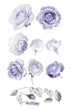 Lilac Roses Wall Decals