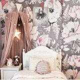 Girls Room Decor, Girls Room Wallpaper, Dusty Rose Wallpaper, Removable Wallpaper, Peel and stick wallpaper, Rocky mountain decals
