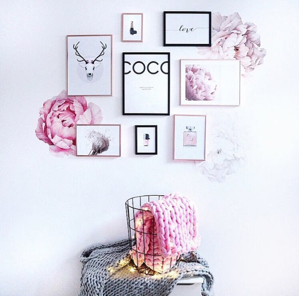 Peony Wall Stickers - so cute