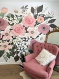 Large scale flower wall mural