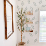 botanical leaf wall decals for baby boy nursery