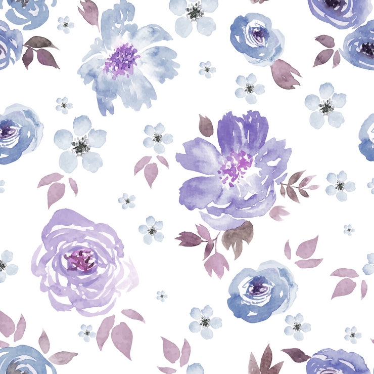 Lilac removable wallpaper