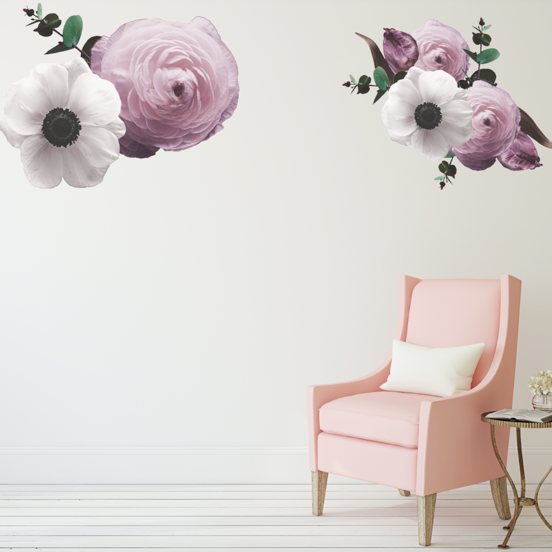 Vintage Flower Wall Stickers