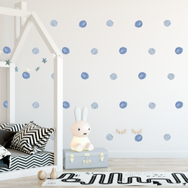Watercolor Dot Decals, Spot Decal, Home decor, Vinyl Wall Stickers, Blue Dot Decals, Blue Dots, Boy Decals, Decals for Boys, Decals, Spots, Rocky Mountain Decals