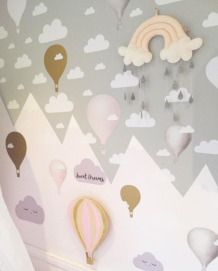 Sweet Clouds Decals Cloud wall decals Cloud Wall Decal / Clouds Decal / cloud sticker / Kids wall decoration / baby room decal / nursery decoration