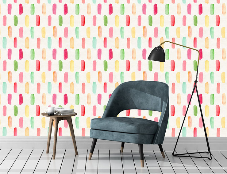 Paintstripes Wallpaper (Peel & Stick)