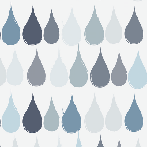 Blue Raindrop Wallpaper