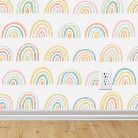 Rainbow Wallpaper (Self-Adhesive)