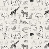 Safari Animal Wallpaper, Peel and Stick Animal Wallpaper, Peel and Stick Wallpaper, Safari Nursery Decor