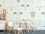 Animal Removable Wallpaper for kids rooms