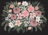 A Pocketful of Posies Wall Mural (Peel & Stick)